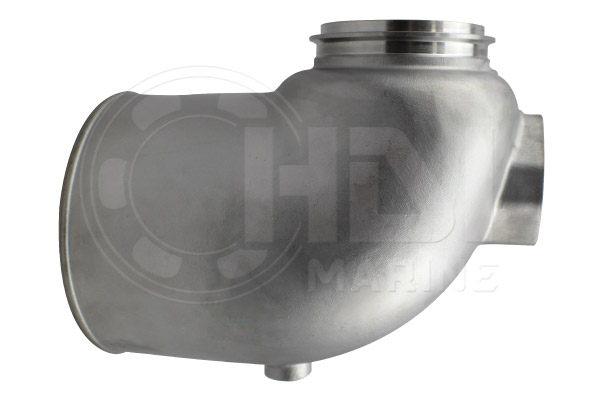 DET3 + DETB90 Stainless Steel Mixing Elbow
